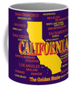 California State Pride Map Silhouette  Coffee Mug
