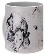 Calves, Gt Garnetts II Pen & Ink On Paper Coffee Mug