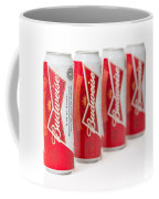 Cans Of Budweiser Beer Coffee Mug