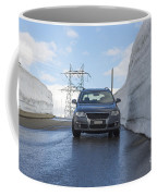 Car And Snow Wall Coffee Mug