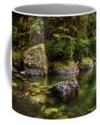 Cascade Locks, Oregon, Usa. A Woman Coffee Mug
