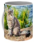 Cat By The Seaside Coffee Mug
