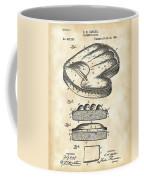 Catcher's Glove Patent 1891 - Vintage Coffee Mug