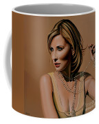 Cate Blanchett Painting  Coffee Mug by Paul Meijering