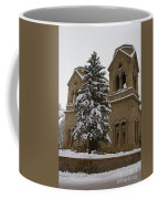 Cathedral Basilica Of St Francis In Snow Coffee Mug