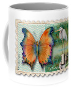 1 Cent Butterfly Stamp Coffee Mug