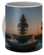 Pineapple Fountain Charleston Sc Sunrise Coffee Mug