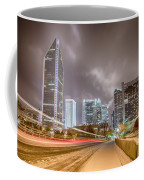 Charlotte Nc Usa Skyline During And After Winter Snow Storm In January Coffee Mug