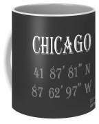 Chicago Coordinates Coffee Mug