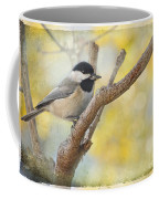 Chickadee With His Prize   Coffee Mug