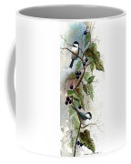 Chickadees And Blueberries Coffee Mug