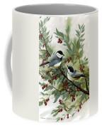 Chickadees And Cherries Coffee Mug