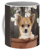 Chihuahua Dog In Flowerpot Coffee Mug