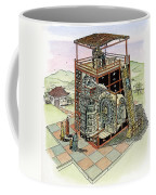 Chinese Astronomical Clocktower Built Coffee Mug