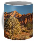 Cholla Cactus And Red Rocks At Sunrise Coffee Mug