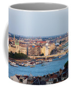City Of Budapest At Sunset Coffee Mug