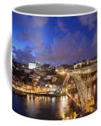 City Of Porto In Portugal By Night Coffee Mug