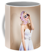Classical Pinup Girl Posing In Retro Fashion Style Coffee Mug