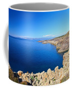 cliff in San Pietro Island Coffee Mug