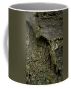 Closeup Of Bark Covered In Lichen Coffee Mug