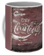 Coca Cola Pink Grunge Sign Coffee Mug