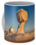 Cock And Mushroom Formation In White Desert Coffee Mug