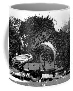 Coils Of Thick Plastic Pipe On A Carrier Wagon Coffee Mug