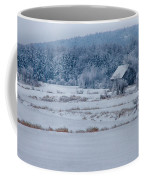 Cold Blue Snow Coffee Mug
