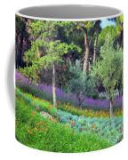 Colorful Park With Flowers Coffee Mug