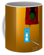 Confusing Wrong-color Traffic Lights And Copyspace Coffee Mug
