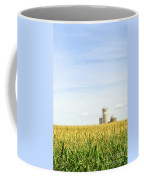 Corn Field With Silos Coffee Mug