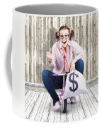 Corrupt Business Thief In A Smart Stealing Scam Coffee Mug