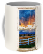 Country Beams Of Light Barn Picture Window Portrait View  Coffee Mug