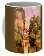 Country House By A River Coffee Mug