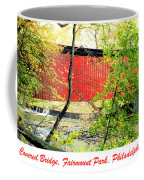 Covered Bridge In Autumn Fairmount Park Philadelphia Coffee Mug