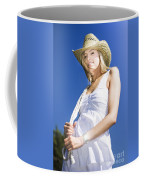 Cowgirl In Dress And Hat Coffee Mug