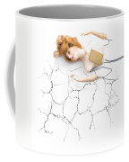 Cracked And Broken Coffee Mug