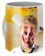 Crazy Sick Monster Eating Gmo Food Coffee Mug