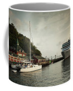 Cruise Ship At Port, Kingstown, Saint Coffee Mug