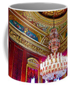 Crystal Chandelier In Dolmabache Palace In Istanbul-turkey  Coffee Mug