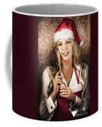 Cute Vintage Housewife Cooking Christmas Meal Coffee Mug