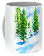 David Skiing The Trees  Coffee Mug
