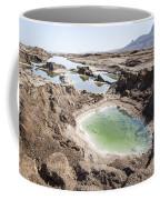 Dead Sea Sinkholes  Coffee Mug by Eyal Bartov
