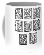 Decorative Initials, C1600 Coffee Mug