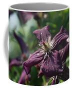 Deep Purple Clematis Coffee Mug