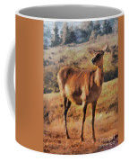 Deer On Mountain  Coffee Mug