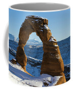 Delicate Arch With Snow Arches National Park Utah Coffee Mug