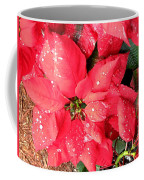 Diamond Encrusted Poinsettias Coffee Mug