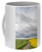 Dirt Road Passing Through Grain Coffee Mug