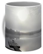 Dock In Morning Fog, Oxtongue Lake Coffee Mug
